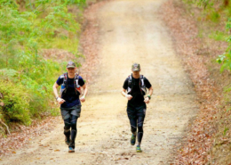 Jase and DJ on the trail during the GNW100 2014
