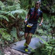 Andy Lee during an ultramarathon event